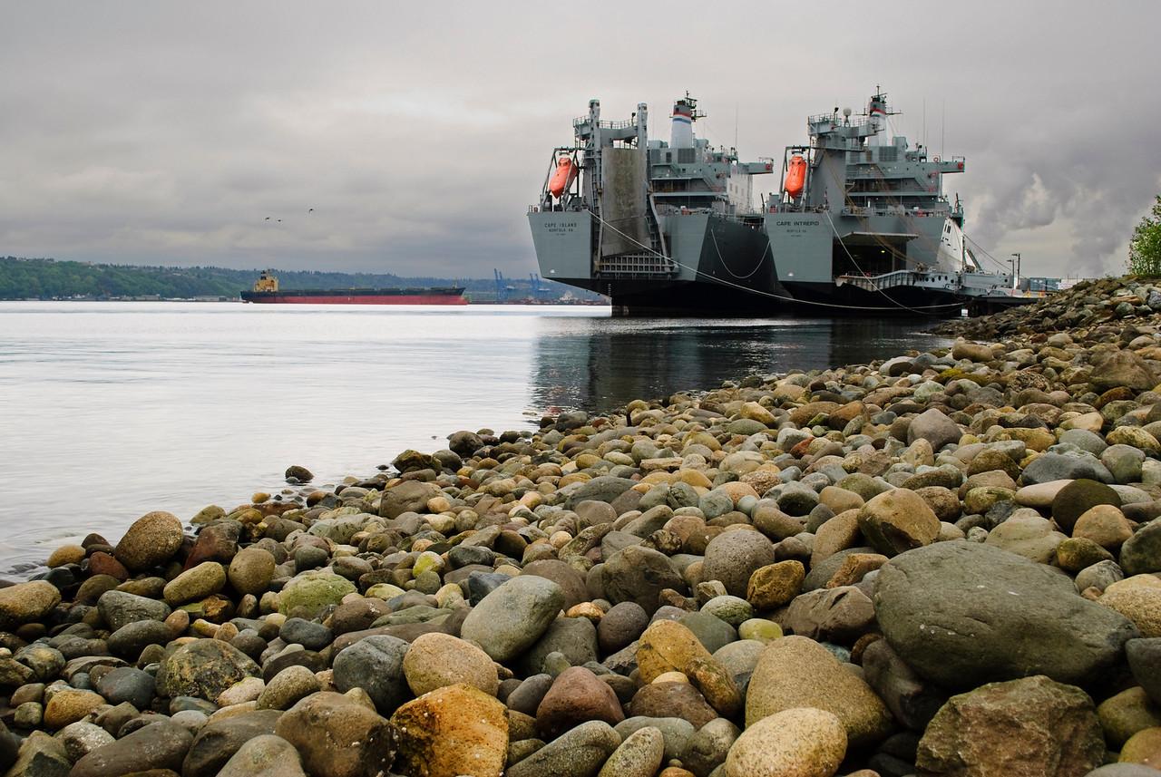 4.29.12  Navy ships,  Commencement Bay  Tacoma, Washington