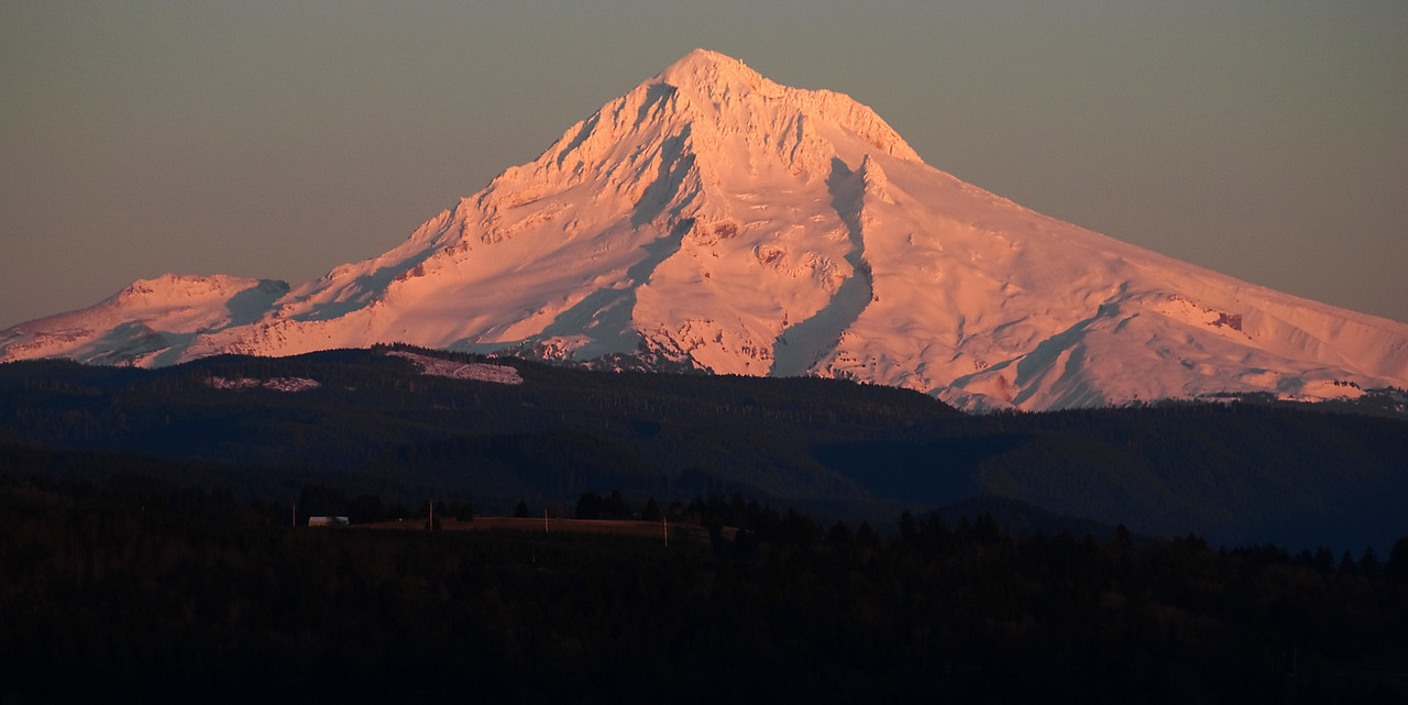 2.04.12  Mt Hood in the setting sun