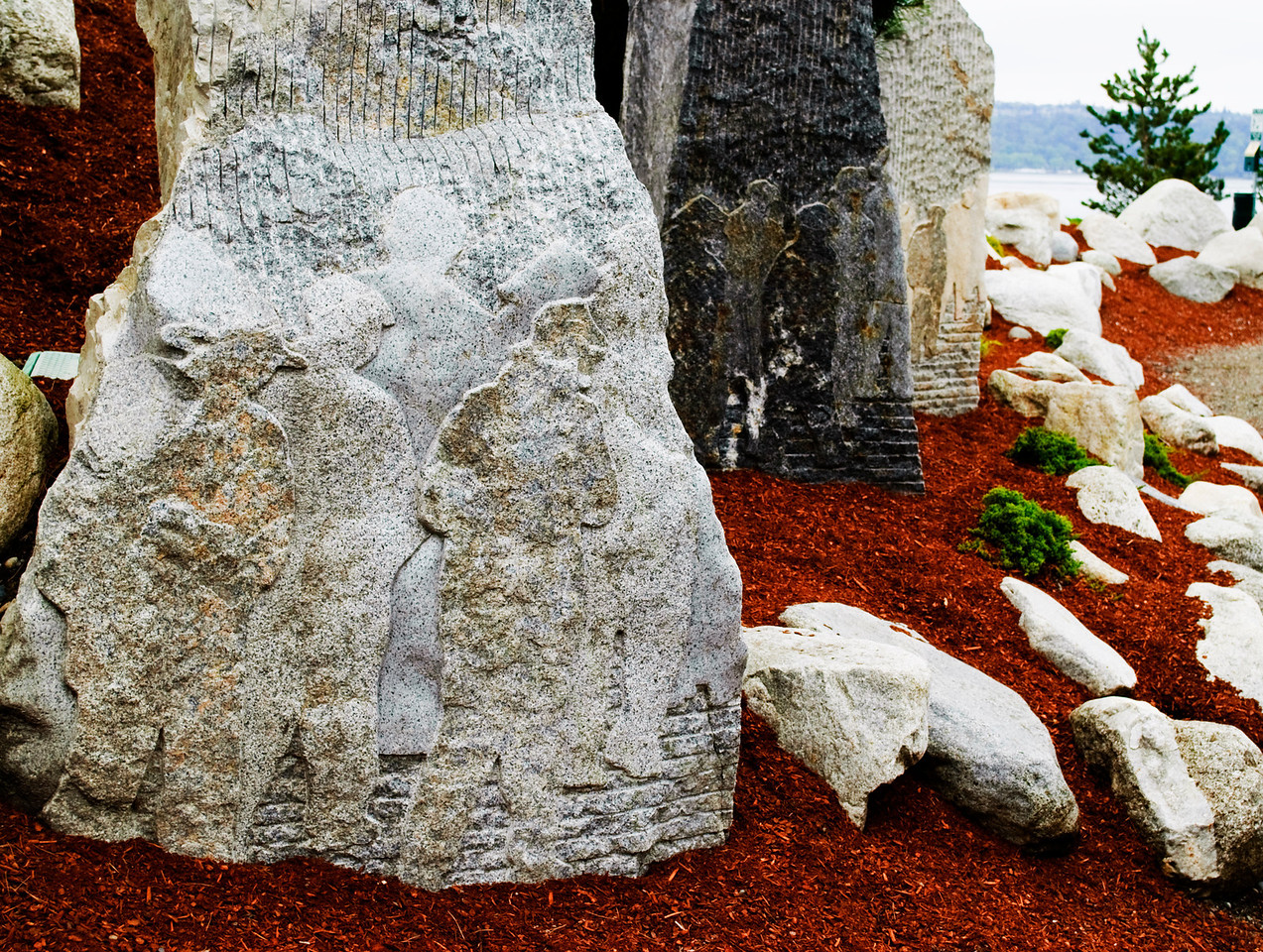 5.22.12  Stone Sculptures, Chinese Reconciliation Park  Tacoma, Washington