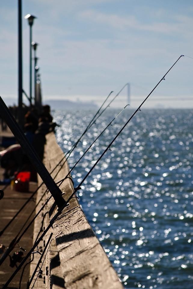 10-08-11 Fishing San Francisco BayBerkeley, CA  (Golden Gate Bridge in the background)