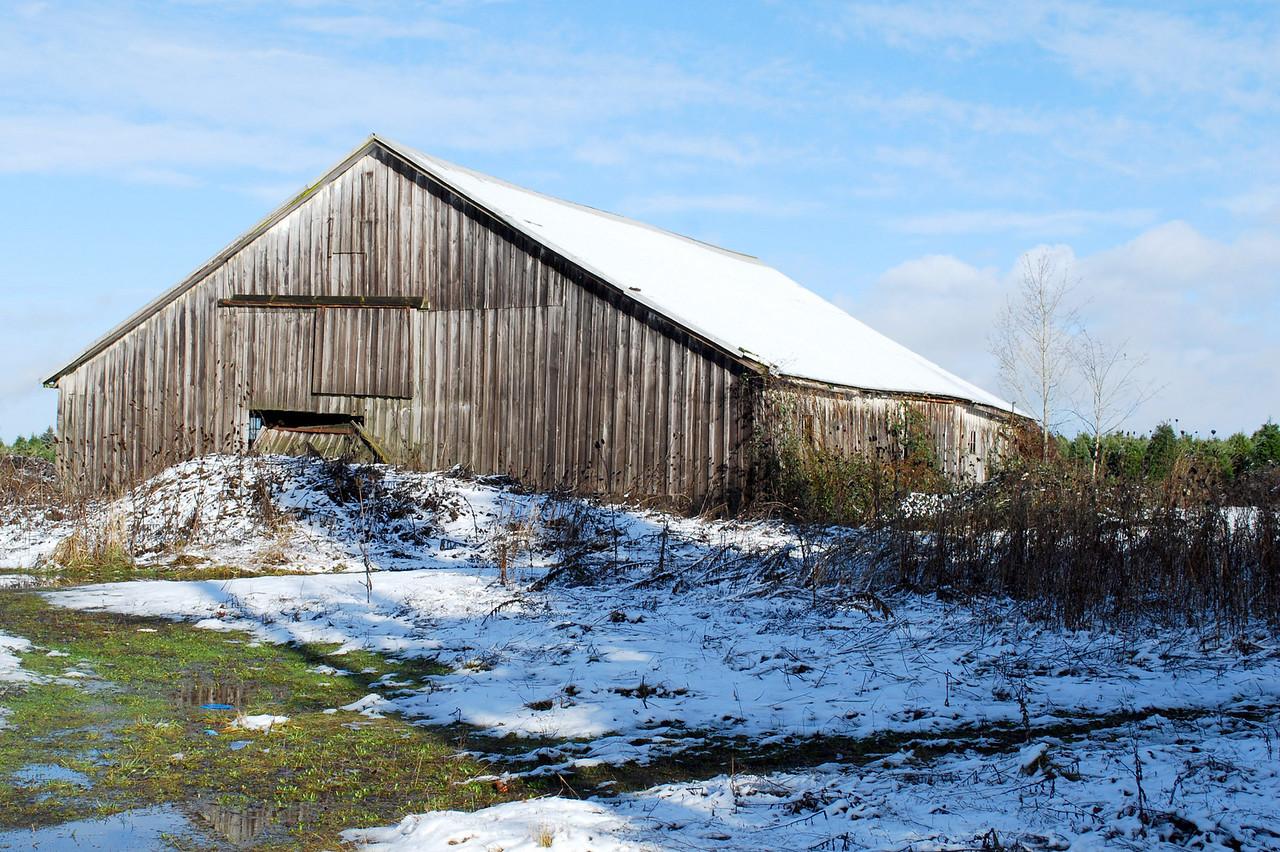Old barn in snow 1-02-09