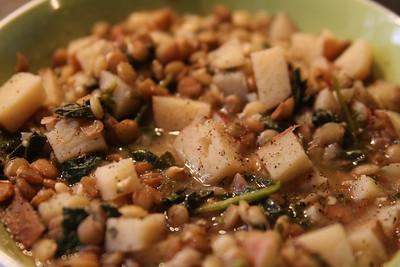 2010-02-24  Mmmmm. Lemony lentil soup! Perfect winter meal.