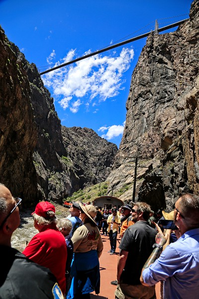 View of the Royal Gorge Bridge From Below
