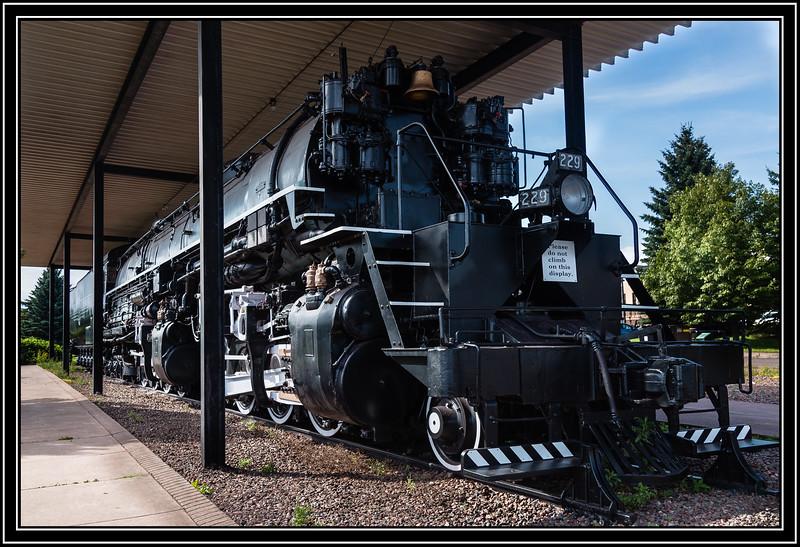 Duluth, Missabe & Iron Range RR No. 229 is a 2-8-8-4