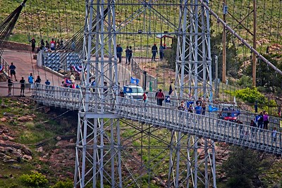 View of the Royal Gorge Bridge From Above
