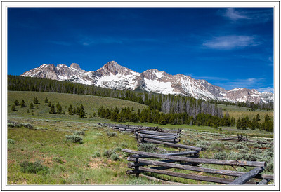 View of the Sawtooth Mountains