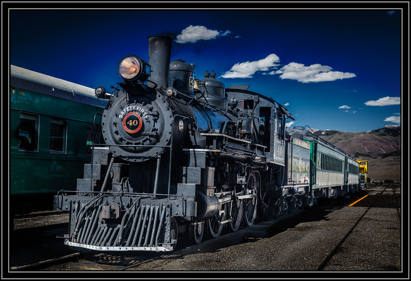 Nevada Northern Locomotive 4-6-0 No. 40