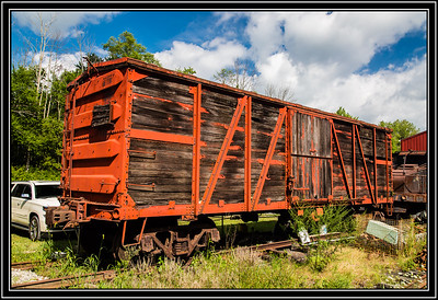 "Old Box Car with ""WOW"""