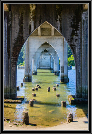 Under  the Siuslaw River Bridge