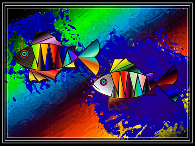 ART-Prismatic Fish     Link to Photo Without Frame