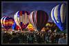 Highlighted Hot Air Balloons