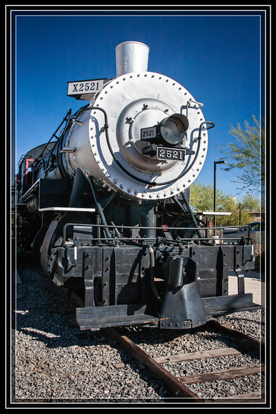 Yuma, AZ-Southern Pacific Locomotive X2521     Link to Photo Without Frame