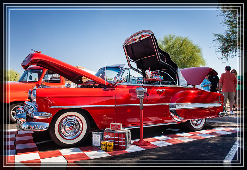 """1954 Chevrolet Convertable and Memories  <a href=""""http://www.rickwillis-photos.com/Events/Car-Vehicle-Shows""""> <font> Link to Other Car Show Images </font></a><font>  </font> <a href=""""http://www.rickwillis-photos.com/Portfolio/Hidden-Photos-Without-Frames/n-QzbJn/i-xmvhPvc""""> <font>Link to Photo Without Frame</font></a>   <font>Thank You for Making this Daily Photo the <font>#1 Pick<font> on 10-25-2013  </font></font></font>"""