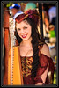 Musician and her Harp at the Arizona Renaissance Festival     Link to Photo Without Frame