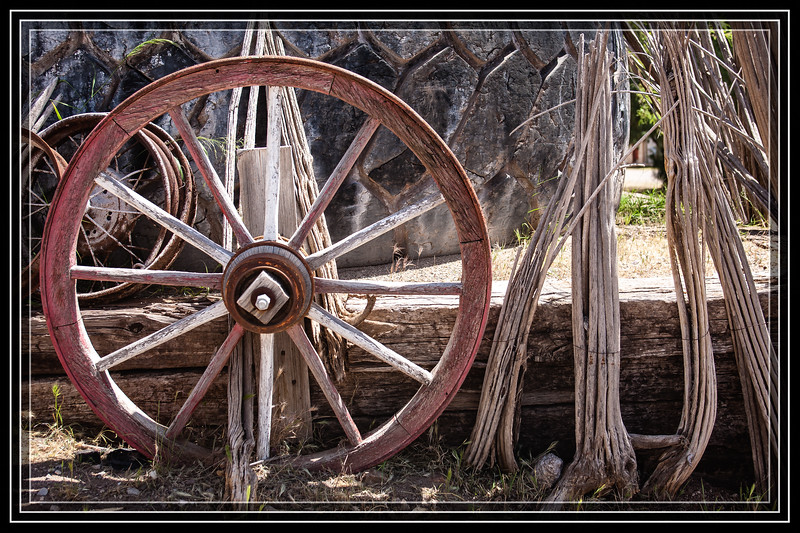 Tire, Rims and Old Wheel