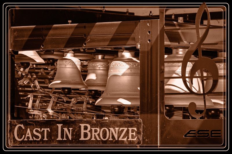 """Click for Information and to Hear </font> <a href=""""http://www.castinbronze.com""""> <font color=""""Orange"""">  Cast In Bronze  </a> </font> which is a musical act, notably including one of the few portable carillons.  A carillon is a musical instrument composed of at least 23 carillon bells, arranged in chromatic sequence, so tuned as to produce concordant harmony when many bells are sounded together. It is played from a keyboard that allows expression through variation of touch. The keys are struck with the half-closed hand. In addition, the larger bells are connected to foot pedals.  </font> <a href=""""http://www.rickwillis-photos.com/Events/Recurring/Renaissance-Festivals-1/27524246_JhRgDK#!i=2381171606&k=gmFJ4Xf""""> <font color=""""Red""""> Link to Original Photo  </a> </font>"""