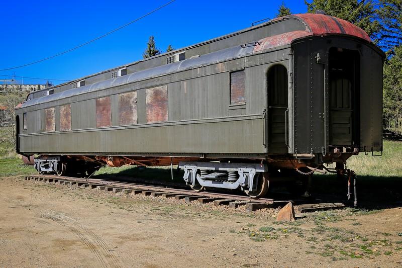 A Rail Car at the Cripple Creek & Victor Narrow Gauge Railroad
