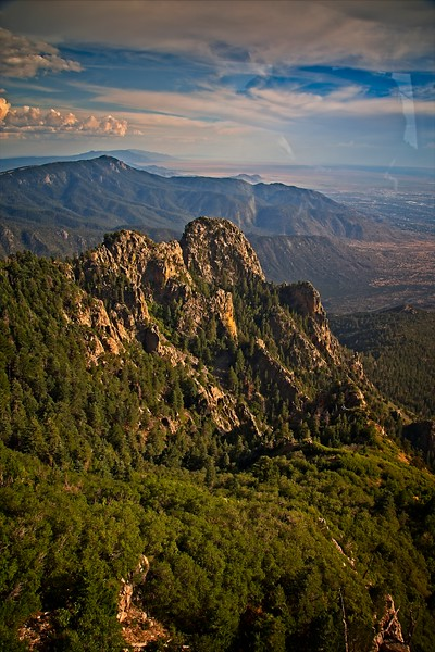 Sandia Peak Tramway as we Ascend to the Top