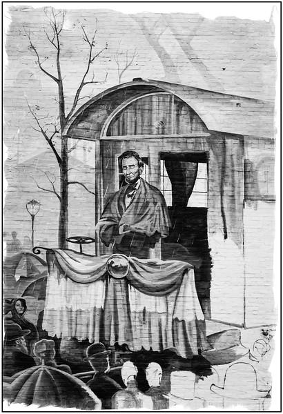 Mural - Abraham Lincoln's Farewell Speech