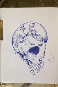 """43/365 - """"skull tatt"""""""