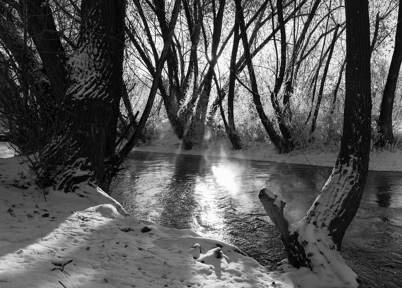 Winter morning in Rapid City, South Dakota