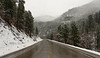 Fresh snow in Spearfish Canyon, South Dakota