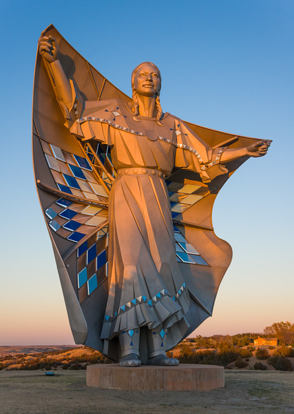 Dignity Sculpture near Chamberlain, South Dakota