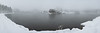Snow and fog at Sylvan Lake, South Dakota