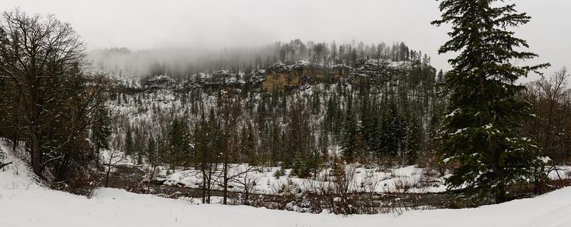 Fresh snow in Spearfish Canyon, South Dakota