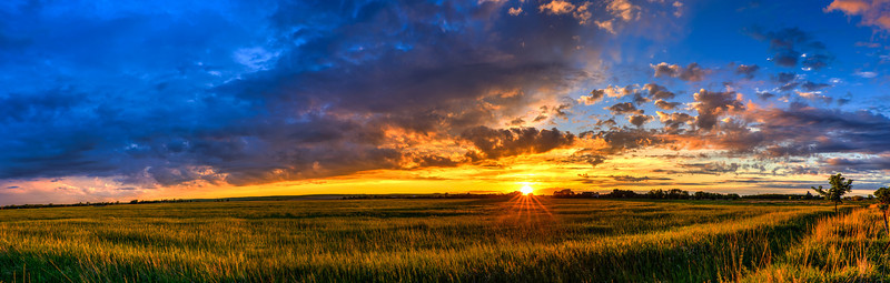 Prairie Sunset Panorama