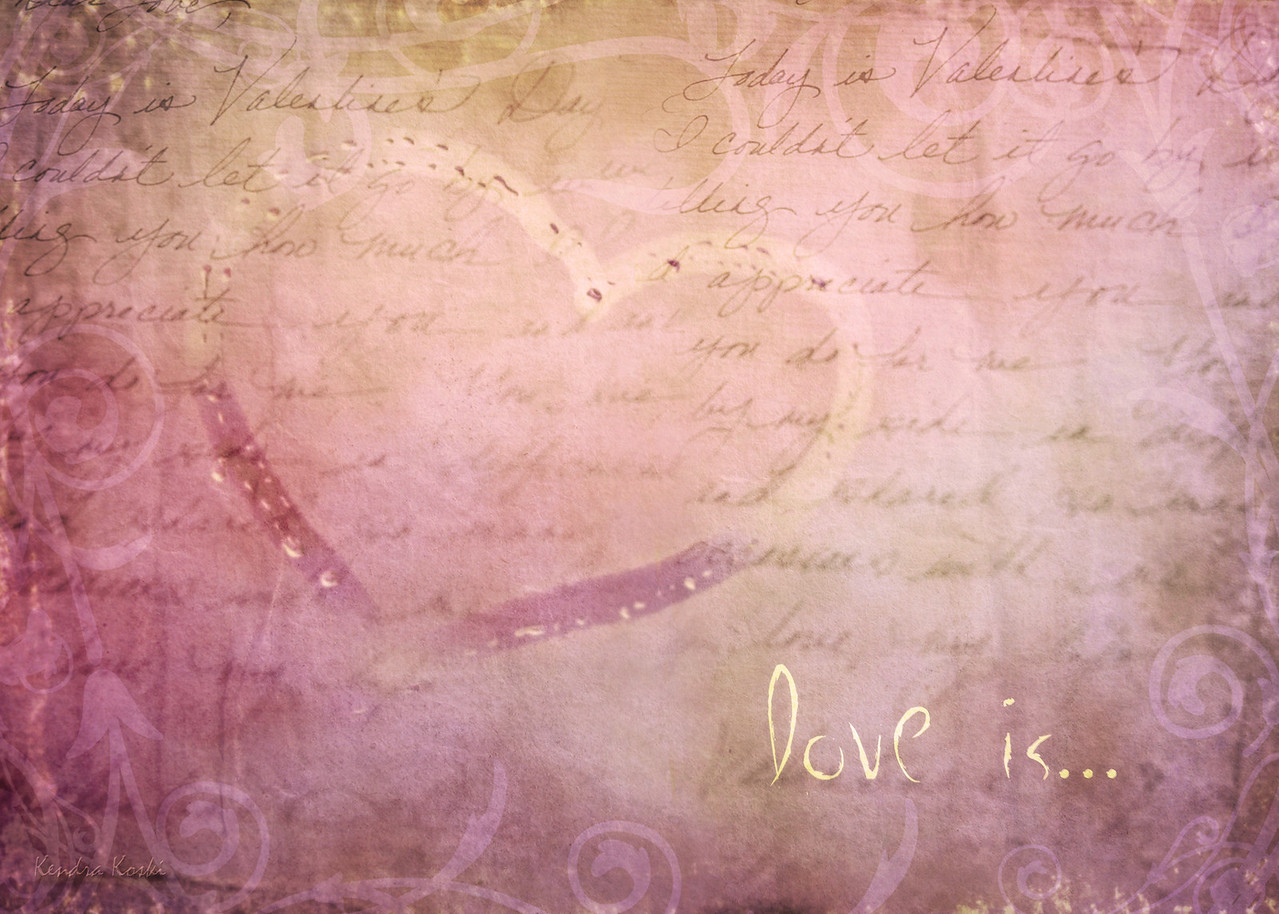 love is,,, - hand drawn heart