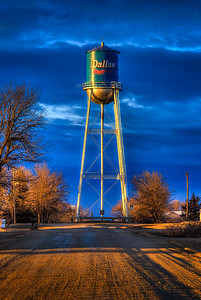 Dallas Water Tower after a Spring Storm