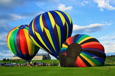 Raising the balloons at the Centennial Celebration in Pierre, South Dakota