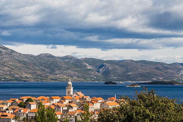 Peak of Korcula old town