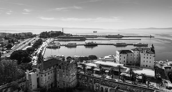 Industrial side of Split's port