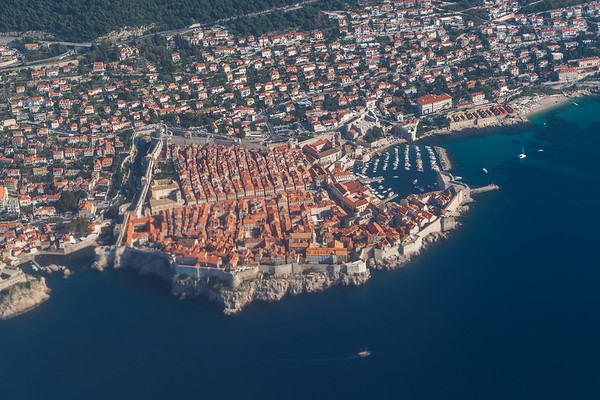 Looking down on the old town of Dubrovnik