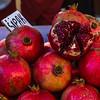 Square crop of pomegranate fruit
