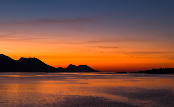 Slopes of the Peljesac Peninsula at sunrise