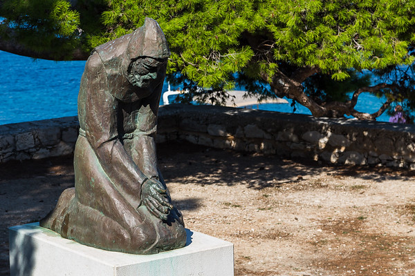 Statue outside the Franciscan Monastery in Hvar Town