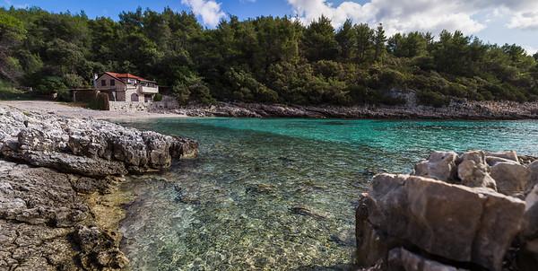 Shallow waters of Zavalatica Bay