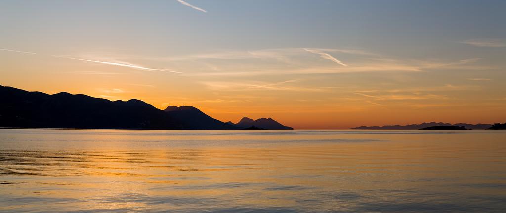 Dawn over the Peljesac peninsula