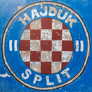Mural of Hajduk Splits club crest