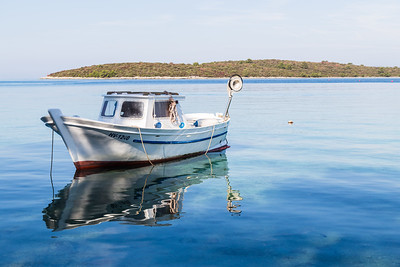 Boat in Loviste Bay