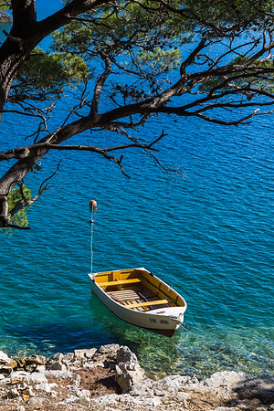 Boat moored on the magical island of Mljet