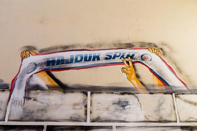 Hajduk Split wall art in Split