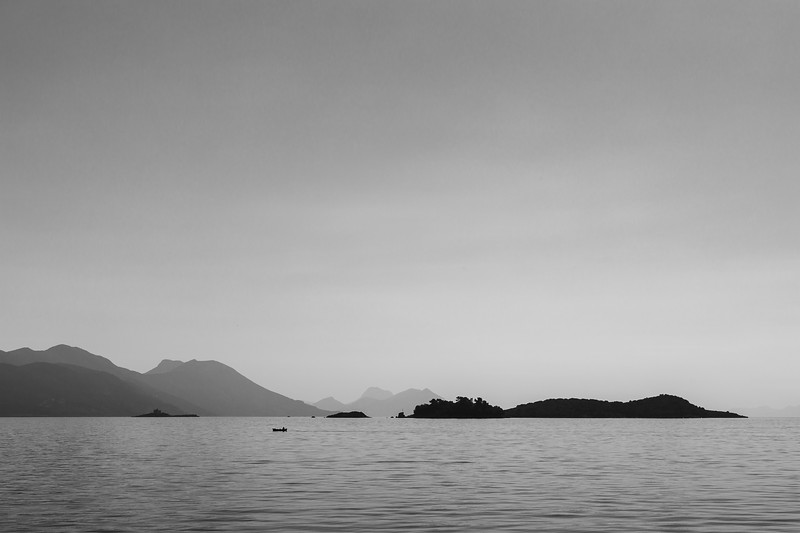 Tiny fishing boat on the Peljesac channel