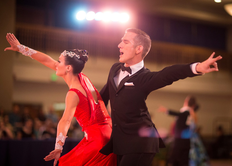 1411-41 0059  1411-41 BLR Dancesport  November ballroom dance competition held in the Wilkinson's Center at BYU.  Organized by Lee Wakefield and Curt Holman, sanctioned by the NDCA.  Friday  Photo by:  Todd Wakefield/BYU  November 14, 2014  Copyright BYU Photo 2014 All Rights Reserved photo@byu.edu   (801)422-7322