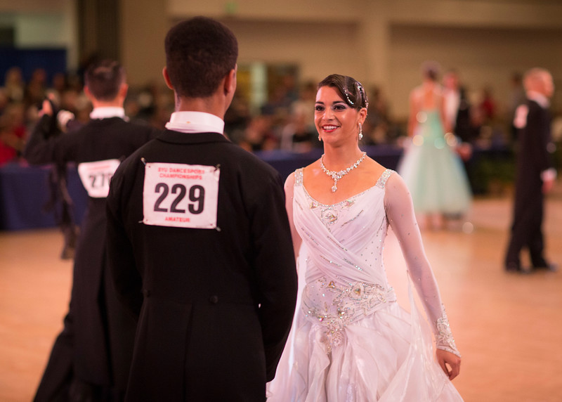 1411-41 0288  1411-41 BLR Dancesport  November ballroom dance competition held in the Wilkinson's Center at BYU.  Organized by Lee Wakefield and Curt Holman, sanctioned by the NDCA.  Friday  Photo by:  Todd Wakefield/BYU  November 14, 2014  Copyright BYU Photo 2014 All Rights Reserved photo@byu.edu   (801)422-7322
