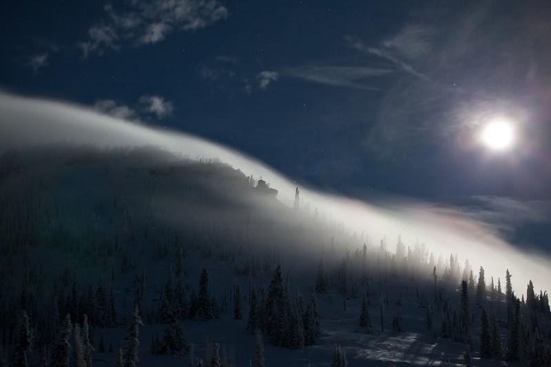 Moonlight & stratus on Snow Peak