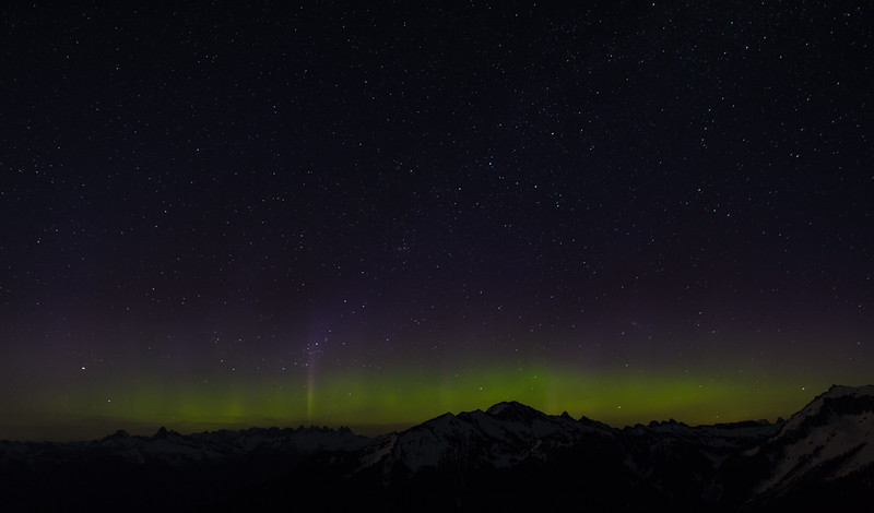 Aurora over Picket range